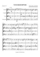 VENI REDEMPTOR (string quartet)