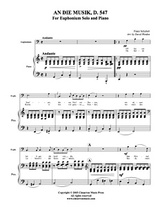 An die Musik (euphonium solo) (download)