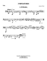 Three Miniatures (Tuba Solo) (Download)