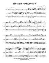 Fugue in c minor, BWV 847 (Low Brass Trio) (Download)