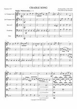 CRADLE SONG (brass quintet) (download)