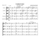 "FAIREST ISLE FROM ""KING ARTHUR"" (string quintet)"