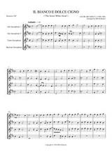IL BIANCO E DOLCE CIGNO (sax quartet) (download)