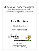 A Solo for Robert Hughes