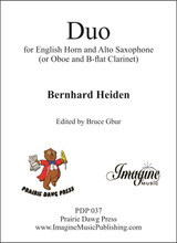 Duo for English horn and Alto Saxophone (download)