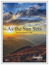 As the Sun Sets (Saxophone Choir)(download)