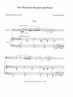 Two Pieces for Bassoon and Piano: Elegia e Scherzo