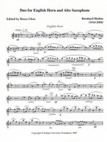 Duo for English horn and Alto Saxophone