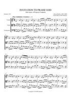 INVITATION TO PRAISE GOD (string trio)