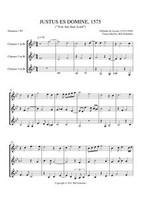 JUSTUS ES, DOMINE (clarinet trio) (download)