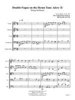 Double Fugue on the Hymn Tune Adore Te