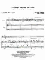 Adagio for Bassoon & Piano (download)