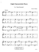 Eight Characteristic Pieces for Piano