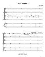 A New Beginning (SATB Chorus & Piano)