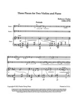 Three Pieces for Two Violins and Piano (download)