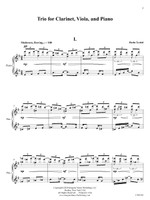 Trio for Clarinet, Viola and Piano