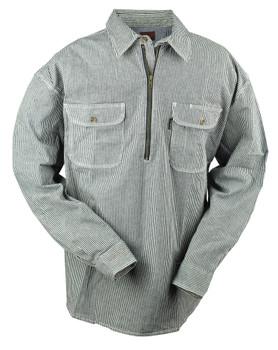 Hickory Stripe Flex 1/2 Zip Logger Shirt