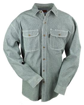 Hickory Stripe Flex Logger Button Shirt