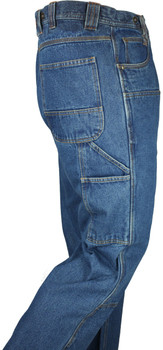14oz Denim Stone Washed Logger Dungaree W/ Chaps