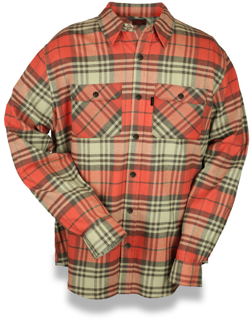 Fleece Lined Snap 9oz Flannel Jacket