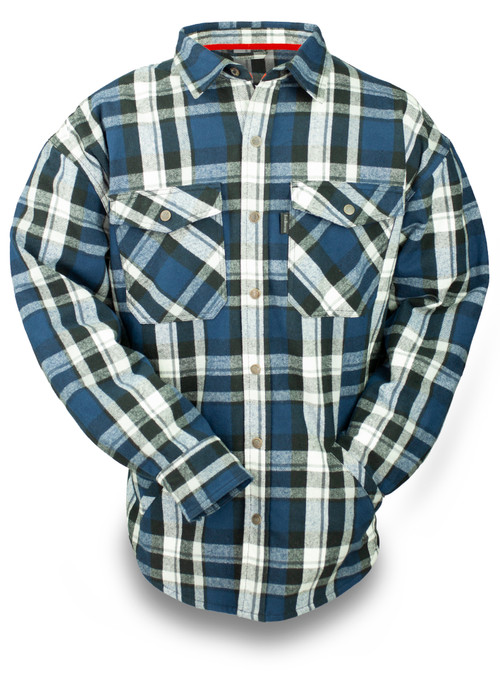 Thermal Knit Lined Snap Front Hooded 9oz Flannel Jacket 2020