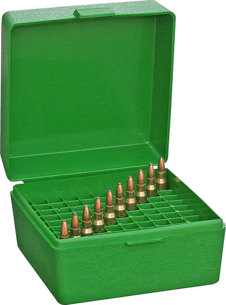 MTM R-100 Rifle Flip-Top 100 Round Ammo Box