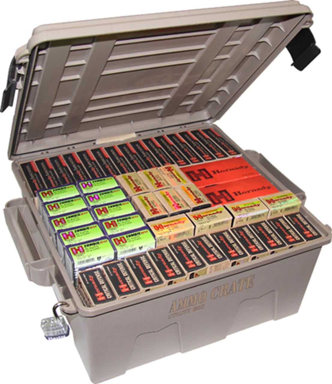Military Ammo Box Ammunition Crate Utility Box Plastic Ammo Storage Case Medium