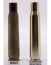 Before and After using Brass Shine