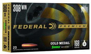 Federal Premium308 Winchester 168 Grain
