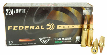 Federal Premium 224 Valkyrie 90 Grain Sierra Matchking