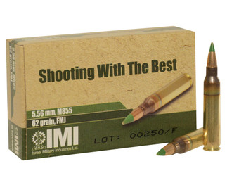IMI Systems M855 62gr FMJ Green Tip Penetrator