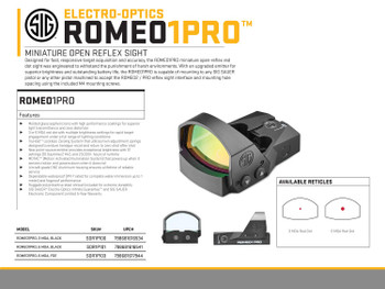 Romeo1 Pro SOR1P101 Miniature Reflex Black
