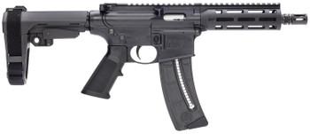 "Smith & Wesson M&P 15-22 Pistol, .22 LR, 8"" Barrel, SBA3 Brace"