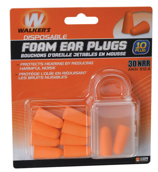 Walker's Disposable Foam Ear Plugs