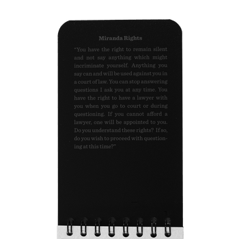 "3"" x 5"" Field Interview Notebook, Black Cover"
