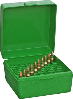 MTM R-100 Rifle Flip-Top 100 Round Ammo Box