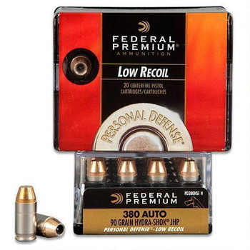 Federal Premium Personal Defense 380 ACP