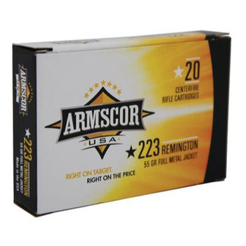 Armscor .223 Remington, 5.56x45mm NATO 55gr