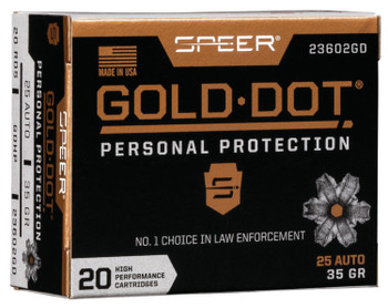 Gold Dot Hollow Point Personal Protection 25 ACP