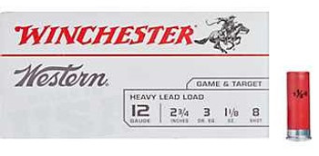 Winchester Western Game & Target Heavy Lead Load 12 Gauge