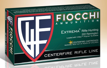 Fiocchi Extrema Rifle Line 222 Remington V-Max