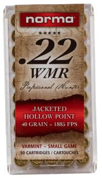 Norma 22 WMR JHP