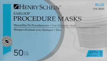 Henry Schein Procedure Face Masks Blue