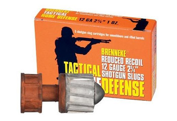 Brenneke Tactical Home Defense Reduced Recoil 12 Gauge Shotgun Slugs