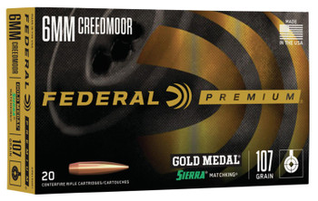 Federal Premium 6mm Creedmoor 107 gr