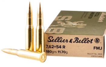 Sellier & Bellot 7.62x54mmR 180 Grain