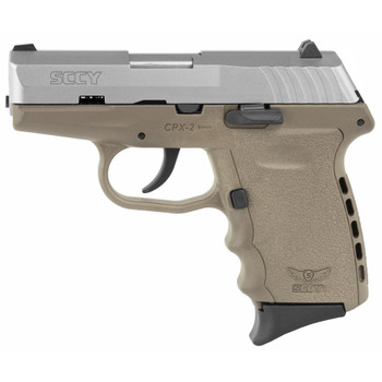 SCCY Industries CPX-2, 9mm Luger, Flat Dark Earth Frame with Stainless Slide
