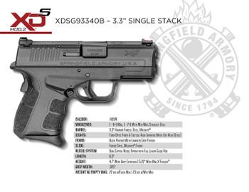 Springfield XD-S Mod.2, .40 S&W
