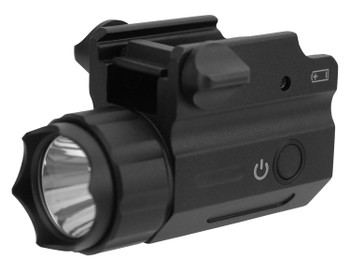 TacFire Full Size Flashlight, 360 Lumens, CR123A Lithium, Black