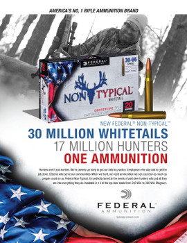 Federal Non-Typical, .308 Win, 180 Grain, Soft Point, 20 Rounds